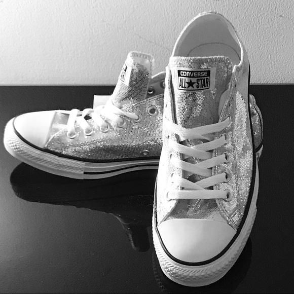 9e0117ac8bea Converse Shoes   All Star Chuck Taylor Glitter Low Tops 10   Poshmark